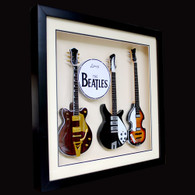 The Beatles Guitar Miniature Fab Four Shadowbox