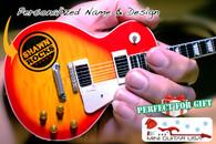 "Personalized Custom Miniature "" Your Own Rockin' Guitar "" Sunburst Classic LPG"