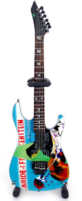 Karloff The Bride of Frankenstein Horror Theme KH Metal Style Miniature Guitar Collectible Kirk Hammett Metallica
