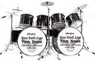 Miniature Drums Custom Personalized Double Bass Black Beauty Color