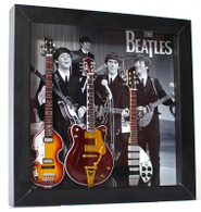 The Beatles Guitar Miniature Fab Four Shadow Box Shadowbox A