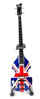 Paul McCartney Beatles Miniature Union Jack Hofner Bass Guitar Replica Collectible