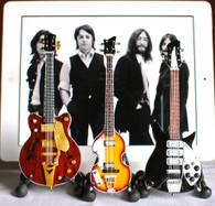 The Beatles fab four guitar set miniature