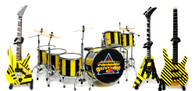 Stryper Miniature Guitar Bass and Drums Replica Collectible STRYPER Band