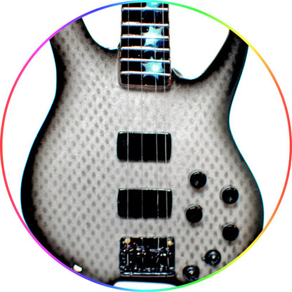 Chris Wolstenholme MUSE Bass Graphite Style Mans Miniature Guitar