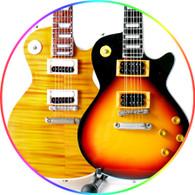 Slash Guns 'n Roses Appetite for Destruction and Tobacco burst Miniature Guitar Collectible