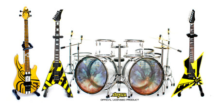 Stryper Miniature Guitar Bass and Drums Replica Collectible STRYPER Band No More Hell to Pay