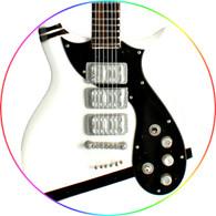 "Patrick Stump Fall Out Boy White ""I Don't Care"" Signature Miniature Guitar"