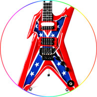 Dimebag Darrell Pantera Confederated Flag Razorback Miniature Guitar Collectible