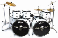 "Jimmy ""The Rev"" Sullivan Avenged Sevenfold White Miniature Drums Display"