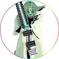 Star Wars Theme Master Yoda Guitar Art Miniature Guitar