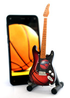 "NBA Theme Charlotte Bobcats Rocks 6"" Super Mini Miniature Guitar with Magnet and Stand"