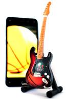 """NBA Theme Milwaukee Bucks Rocks 6"""" Super Mini Miniature Guitar with Magnet and Stand"""