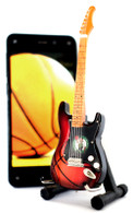 "NBA Theme Boston Celtics Rocks 6"" Super Mini Miniature Guitar with Magnet and Stand"