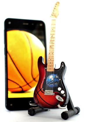 "NBA Theme Orlando Magic Rocks 6"" Super Mini Miniature Guitar with Magnet and Stand"