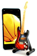 """NBA Theme Denver Nuggets Rocks 6"""" Super Mini Miniature Guitar with Magnet and Stand"""