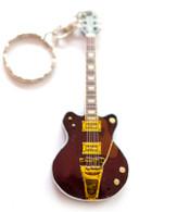 "George Harrison The Beatles Country Gentleman 4"" Miniature Guitar Fridge Magnet & Keychain"