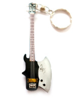 "Kiss Axe Bass 4"" Miniature Guitar Fridge Magnet & Keychain"