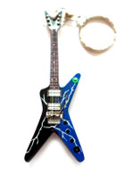 "Dimebag Darrell Pantera Lightning from H 4"" Miniature Guitar Fridge Magnet & Keychain"