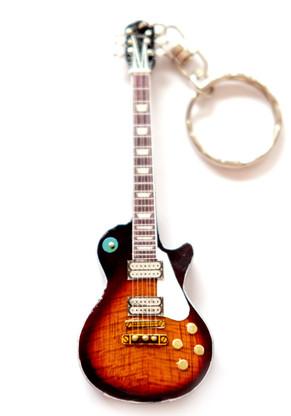 "I Love Zeppelin Jimmy's Sunburst Classic 4"" Miniature Guitar Fridge Magnet & Keychain"