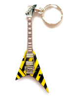 "Michael Sweet STRYPER Ultra V 4"" Miniature Guitar Fridge Magnet & Keychain"