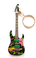 "Steve Vai Universe Swirl Signature 4"" Miniature Guitar Fridge Magnet & Keychain"