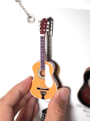 "Rock and Roll History V01 Lead Belly Acoustic 4"" Miniature Guitars with Magnet Visual Compendium of Guitar"