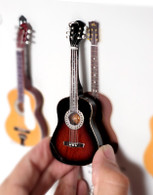 "Rock and Roll History V02 Robert Acoustic 4"" Miniature Guitars with Magnet Visual Compendium of Guitar"