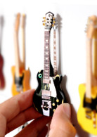 "Rock and Roll History V07 Neil Young Black Beauty 4"" Miniature Guitars with Magnet Visual Compendium of Guitar"