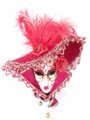 Red Miniature Jolly Cappello Anna Venetian Decorative Mask SKU P100-4