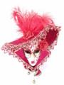 Red Miniature Jolly Cappello Anna Venetian Decorative Mask SKU P100-4