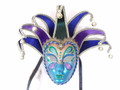 Blue Purple Green Jolly Pavone Venetian Masquerade Mask SKU N477