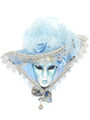Light Blue Miniature Cappello Franca 16cm Venetian Decorative Hat Mask SKU P100-2