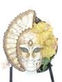White Big Woman Anna Venetian Mask SKU 229aw