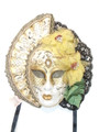 Gold Big Woman Anna Venetian Mask SKU 229ag