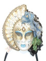 Light Blue Big Woman Anna Venetian Mask SKU 229albl
