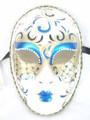 Blue Volto Anna Eco Venetian Masquerade Mask SKU 426