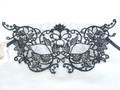 Black Macrame Butterfly Colombina Venetian Masquerade Mask SKU p160-4
