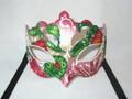 Red Deco Primavera Venetian Mask. SKU 012ZRED