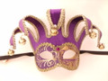 Purple Colombina Jolly Stoffa Venetian Masquerade Mask SKU 325jpu