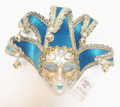 Light Blue Jollini Miniature Ceramic Venetian Mask SKU P124