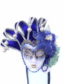 Blue Jolly Fiori Venetian Masquerade Mask SKU 241jb
