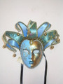 Jolly Lillo Light Blue Venetian Masquerade Mask SKU 291jlb