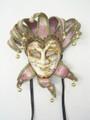 Pink Joker Punte Sinfonia + Bavero Venetian Mask SKU 387PINK
