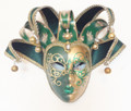 Green Gold Jolly Richi Lillo Venetian Masquerade Mask SKU 292jgrg