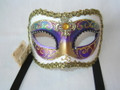 Yellow Colombina Arco Venetian Mask  SKU 009wy