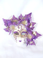 Purple Miniature Ceramic Foglie Venetian Mask  SKU P135pu