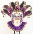 Purple Arcobaleno + Bav Jolly Venetian Masquerade Mask SKU: 306pur