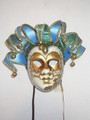 Jolly Sinfonia Blue Venetian Masquerade Mask SKU 287jblu