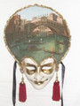 Carta Alta Oil Painted/Hand Painted Venetian Wall Mask  SKU: CA003